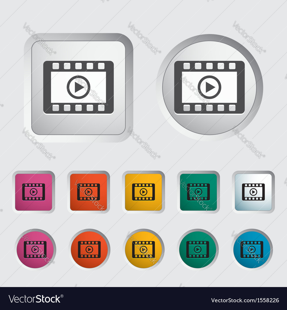Video icon vector | Price: 1 Credit (USD $1)