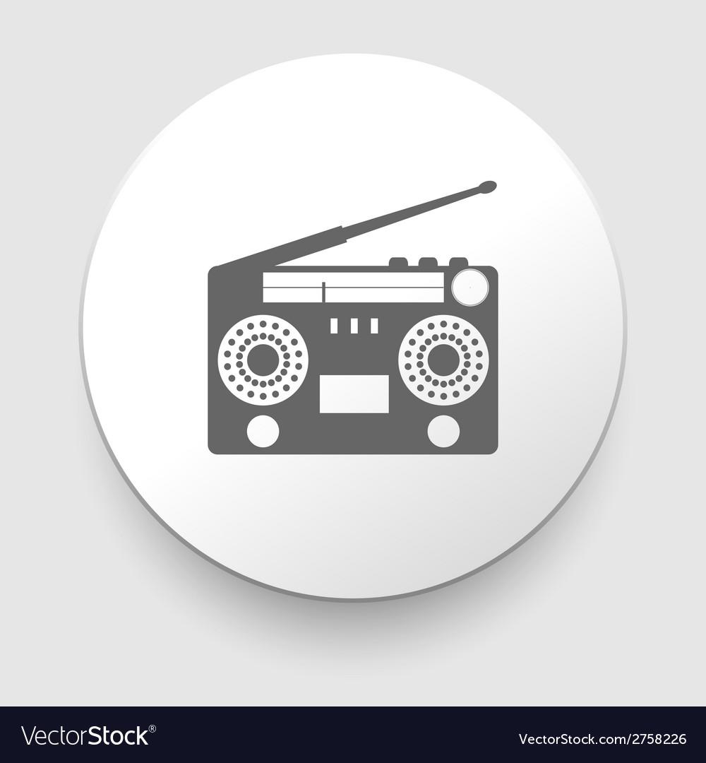 Vintage radio tape recoreder vector | Price: 1 Credit (USD $1)