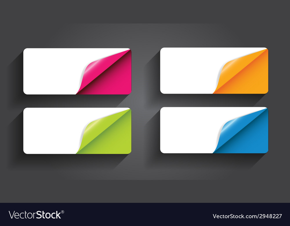 Banners with different corner and place for text vector | Price: 1 Credit (USD $1)