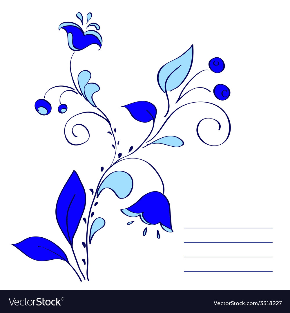 Blue flowers vector   Price: 1 Credit (USD $1)