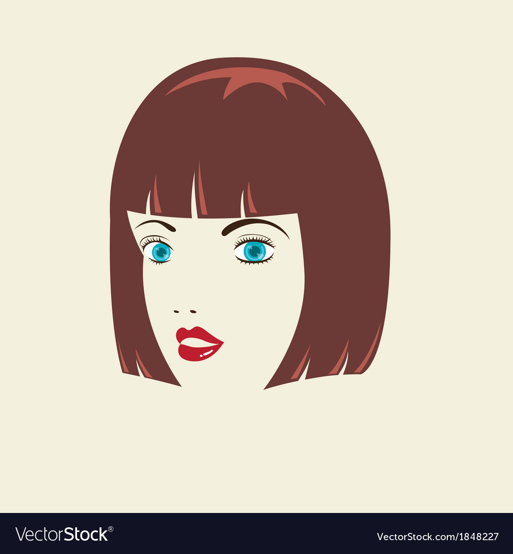 Bob woman hairstyle vector | Price: 1 Credit (USD $1)