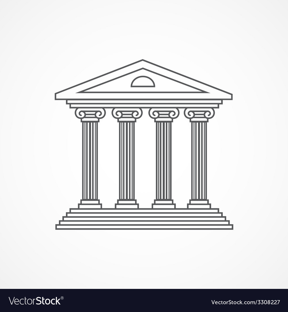 Courthouse icon vector | Price: 1 Credit (USD $1)