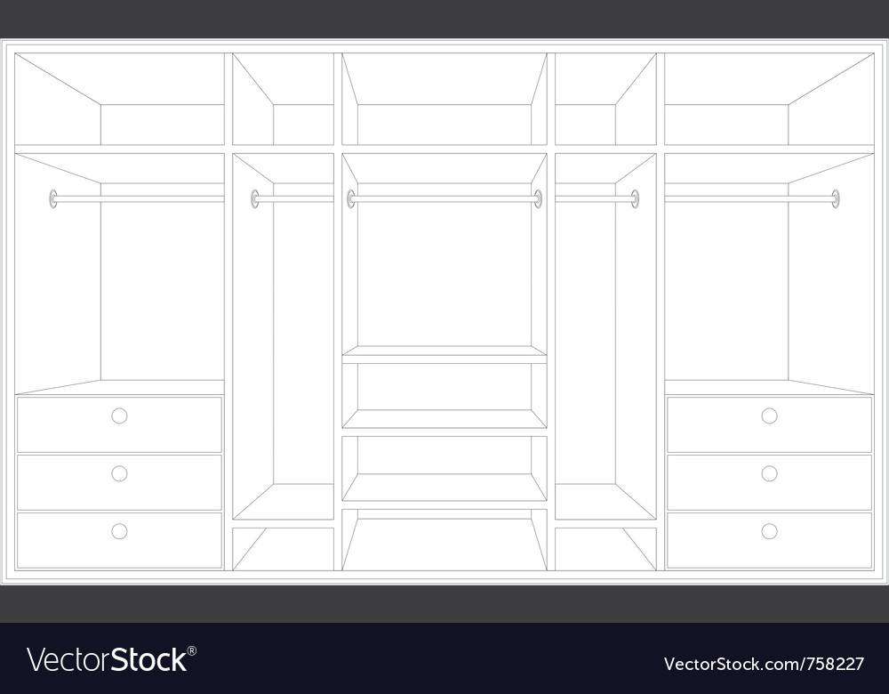 Drawing of a wardrobe vector | Price: 1 Credit (USD $1)