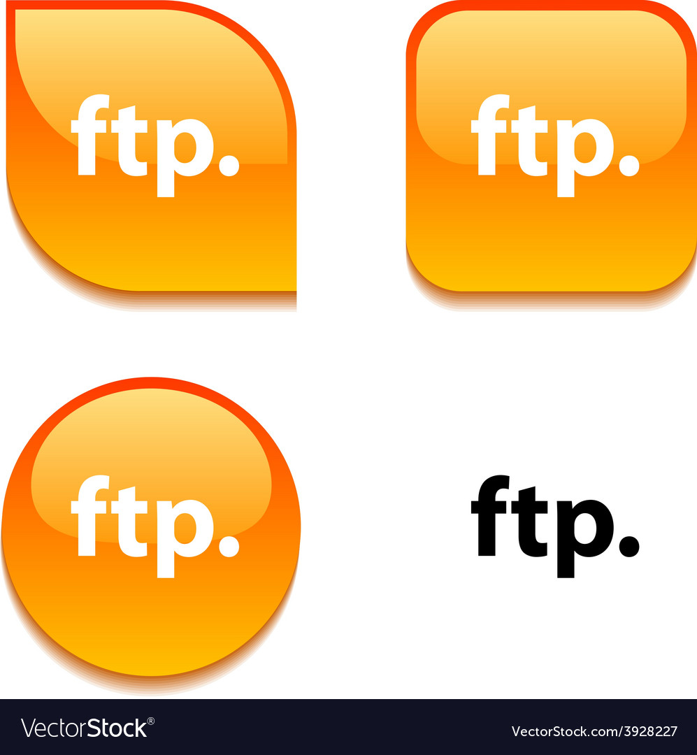 Ftp glossy button vector | Price: 1 Credit (USD $1)