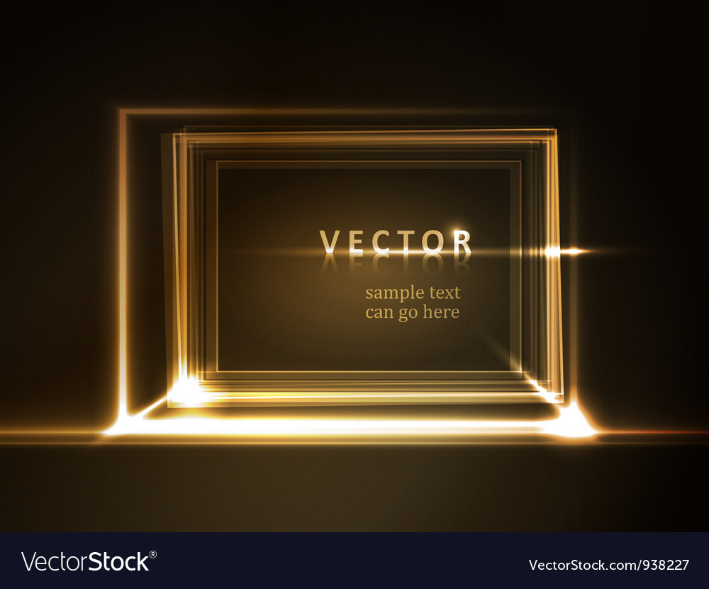 Glowing rectangular frame with light effects vector | Price: 1 Credit (USD $1)