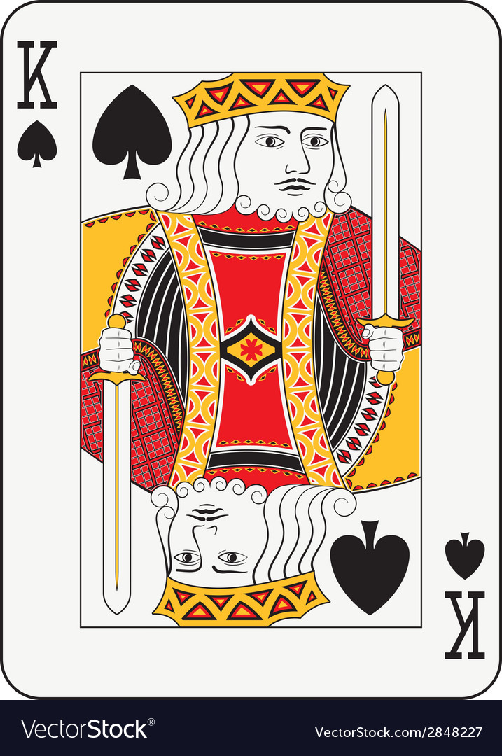 King of spades vector | Price: 1 Credit (USD $1)