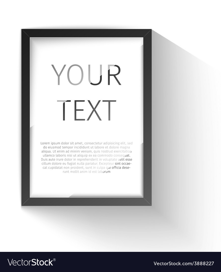 Realistic frame perfect for your presentations vector | Price: 1 Credit (USD $1)