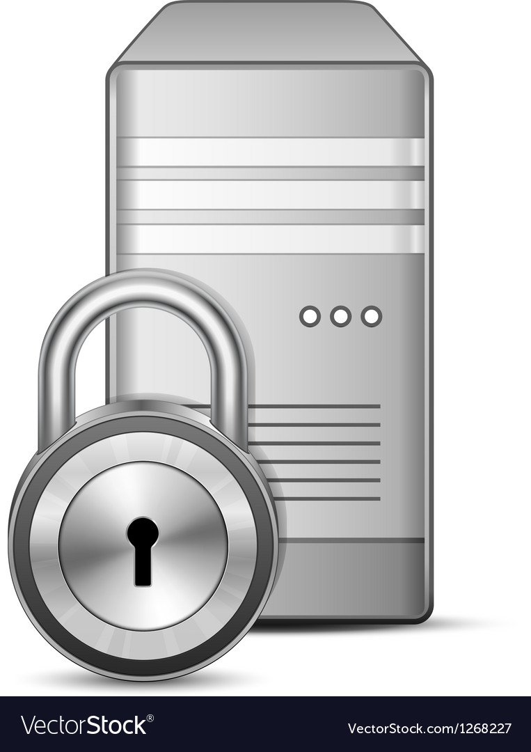 Secured server vector | Price: 1 Credit (USD $1)