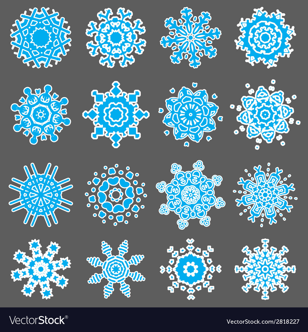 Set of snowflakes vector   Price: 1 Credit (USD $1)
