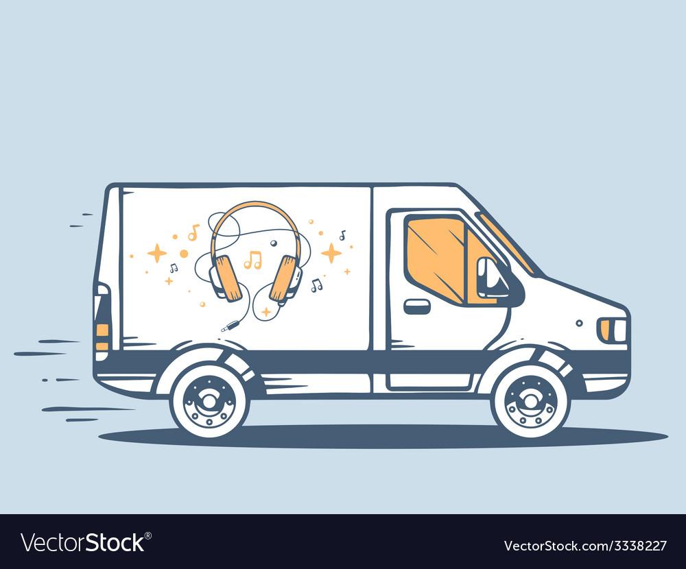Van free and fast delivering headphones t vector | Price: 1 Credit (USD $1)