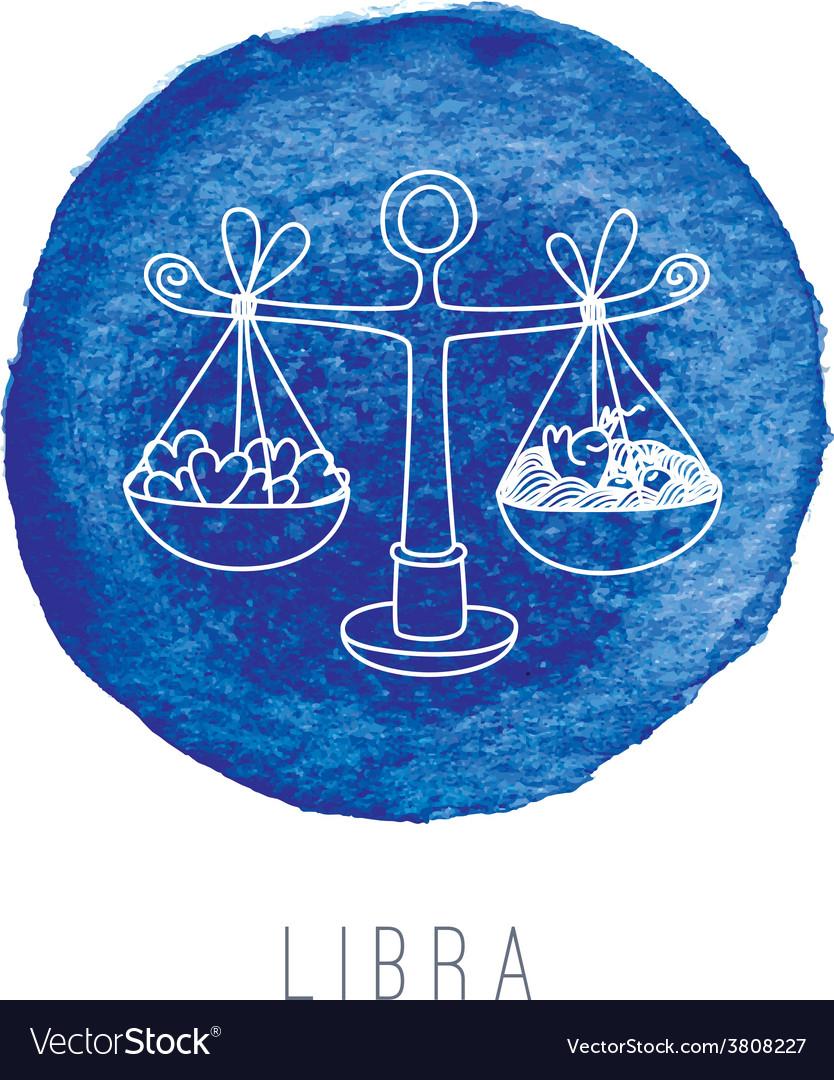 Watercolor of the scales libra vector | Price: 1 Credit (USD $1)