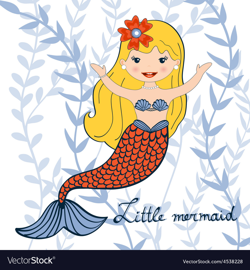A beautiful little mermaid vector | Price: 1 Credit (USD $1)