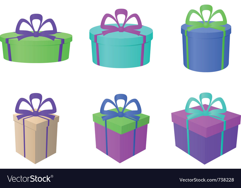 Boxes multi-coloured different forms vector | Price: 1 Credit (USD $1)