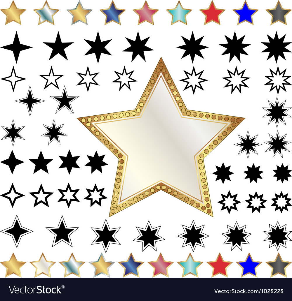 Different stars vector | Price: 1 Credit (USD $1)
