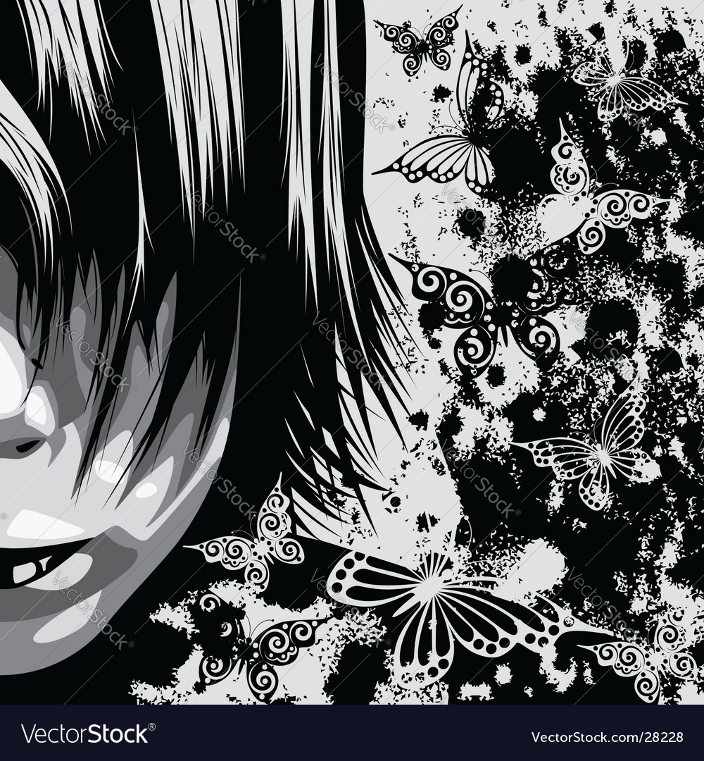 Grunge face sketch vector | Price: 3 Credit (USD $3)