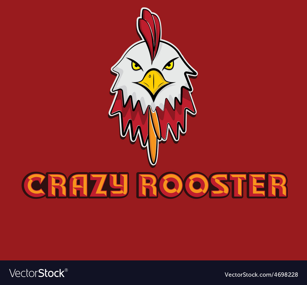 Head of crazy rooster vector | Price: 1 Credit (USD $1)
