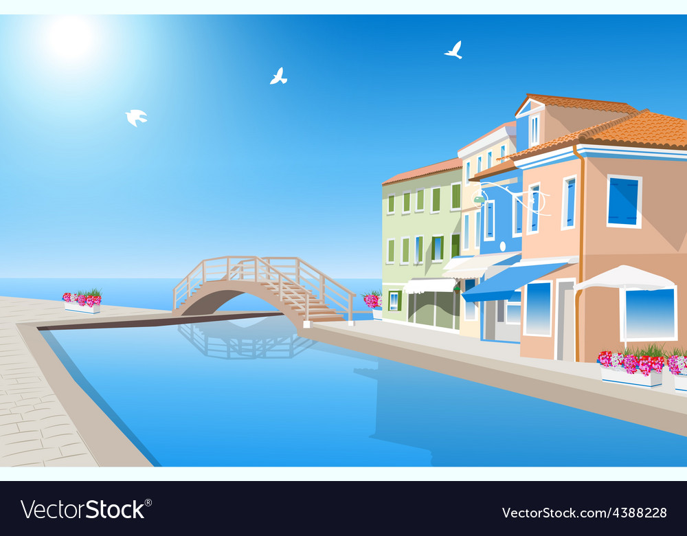 Houses with pool vector | Price: 3 Credit (USD $3)