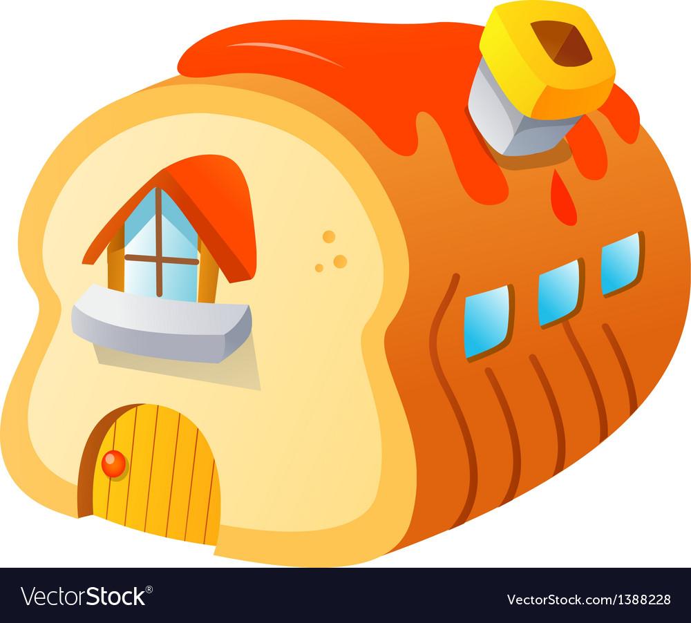 Icon bread house vector | Price: 1 Credit (USD $1)