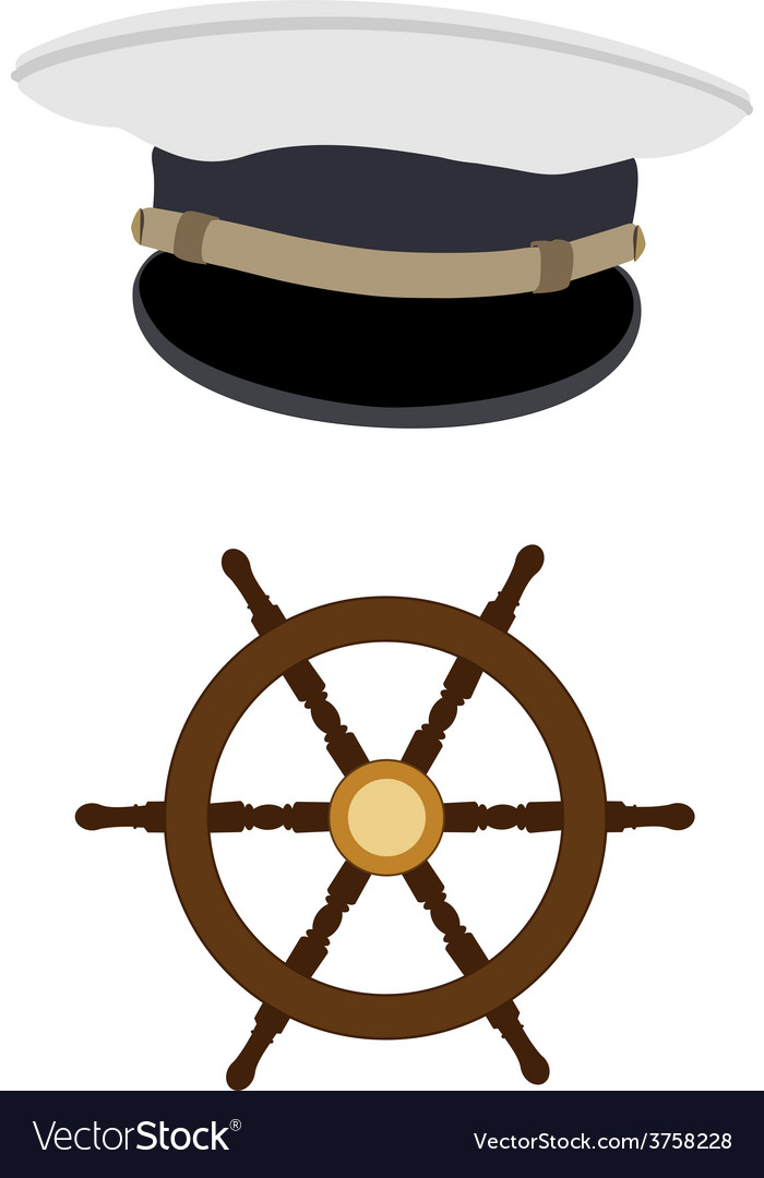 Navy hat and wheel vector | Price: 1 Credit (USD $1)