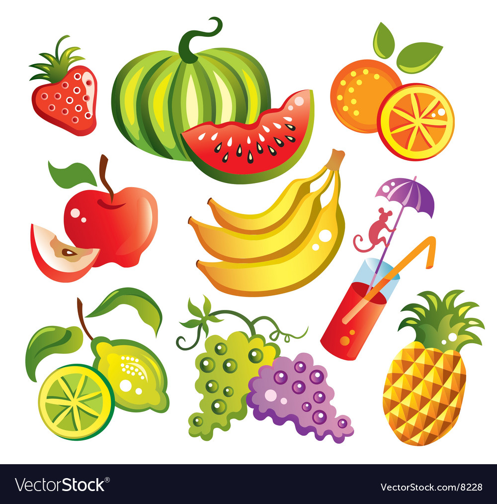 Set of fruit vector | Price: 3 Credit (USD $3)
