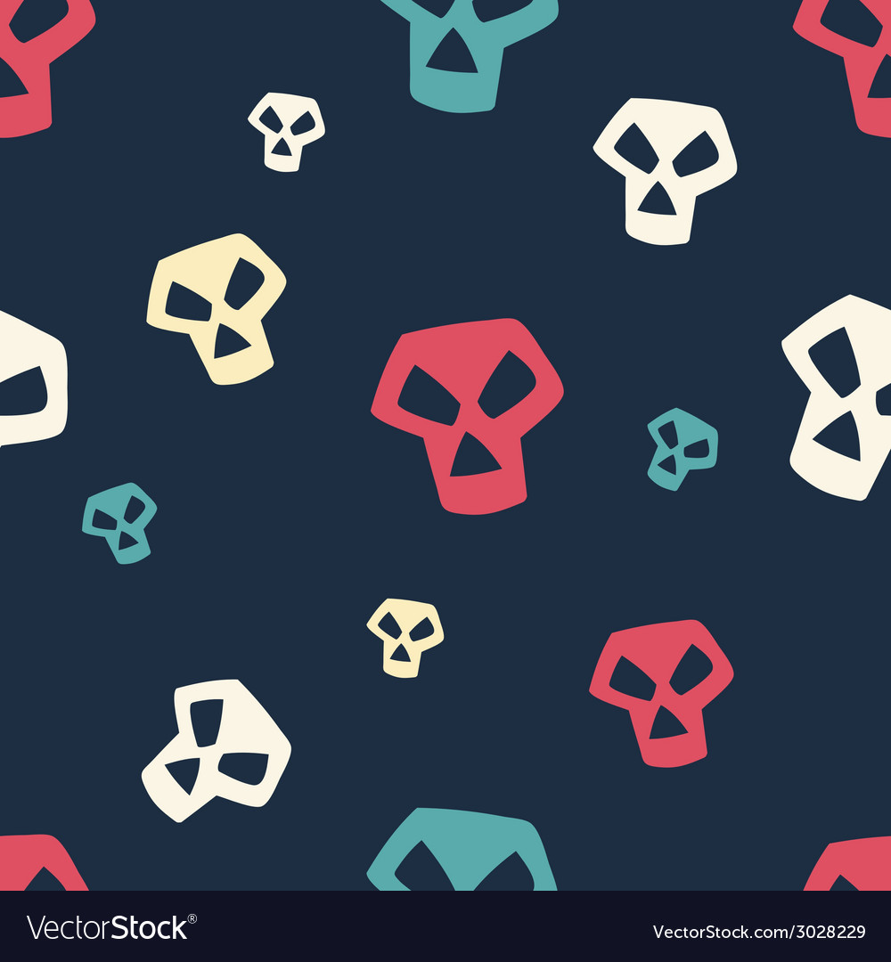 Colored skull pattern small vector | Price: 1 Credit (USD $1)