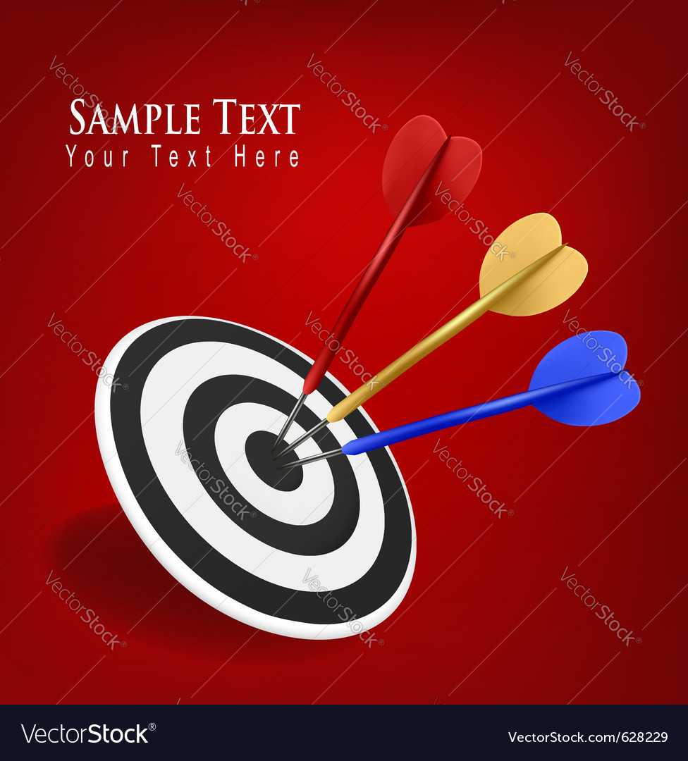 Darts hitting a target vector | Price: 3 Credit (USD $3)