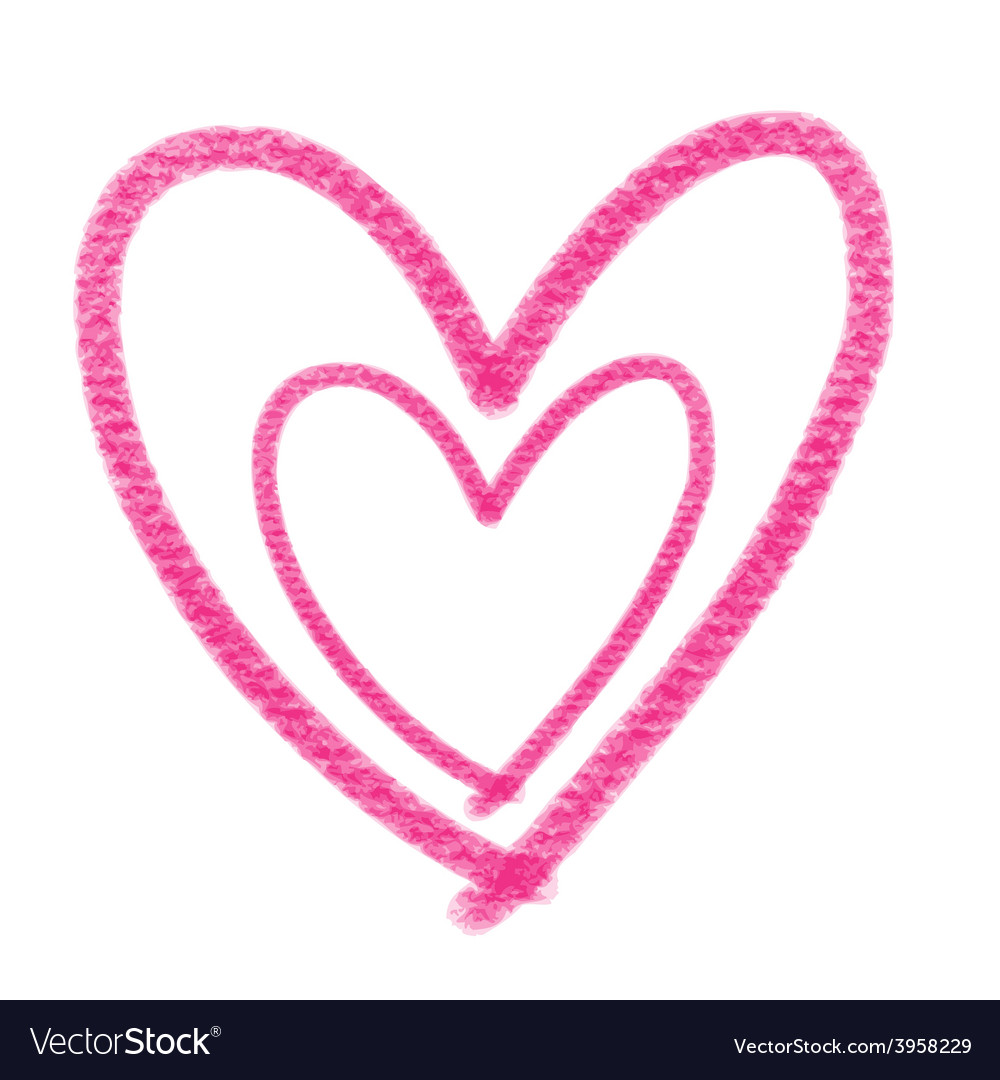 Double pink heart vector | Price: 1 Credit (USD $1)