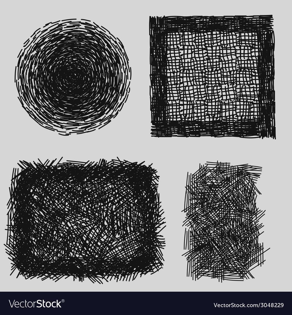 Hand drawn sketches rough hatching grunge texture vector   Price: 1 Credit (USD $1)
