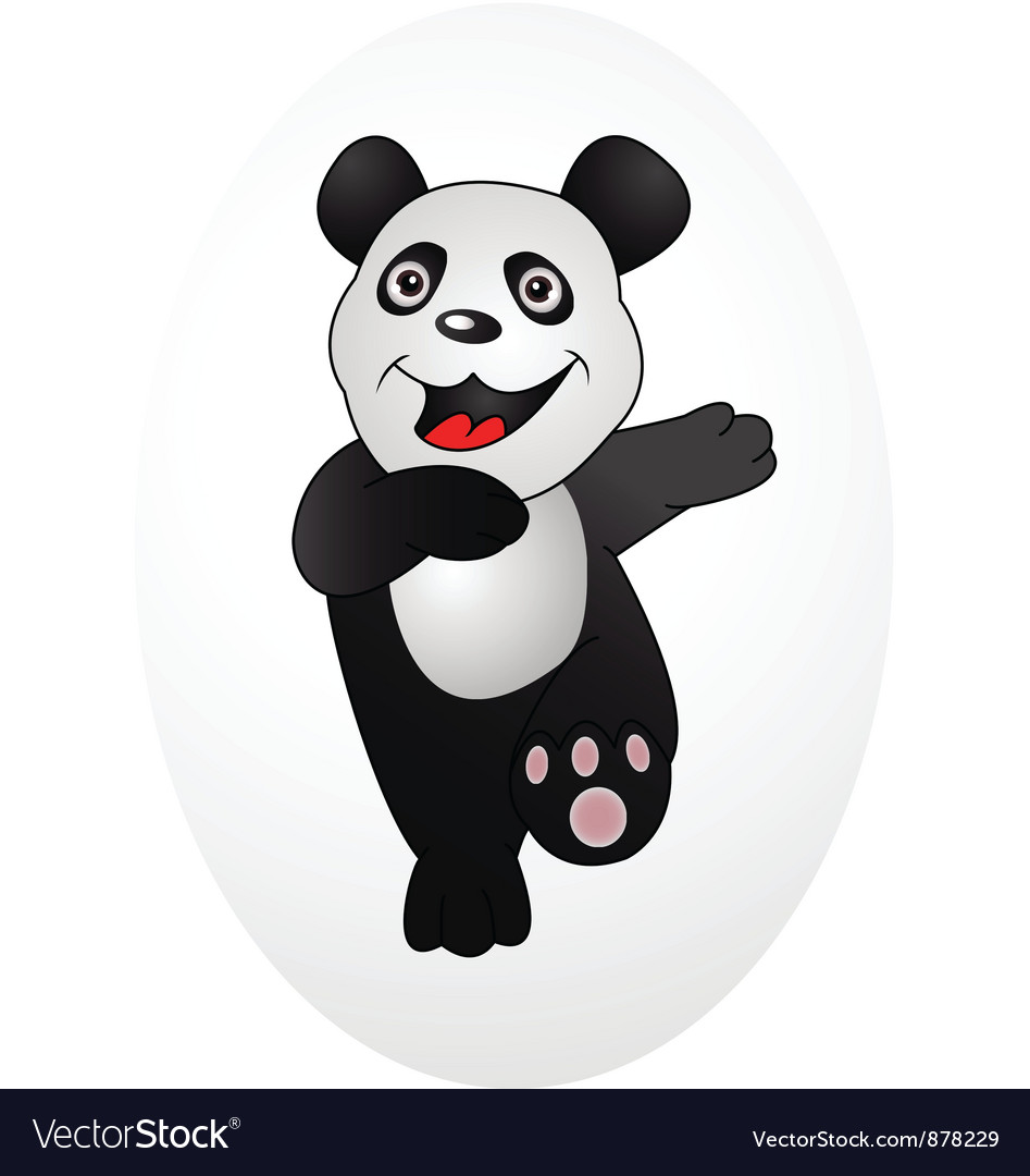 Happy panda vector | Price: 1 Credit (USD $1)