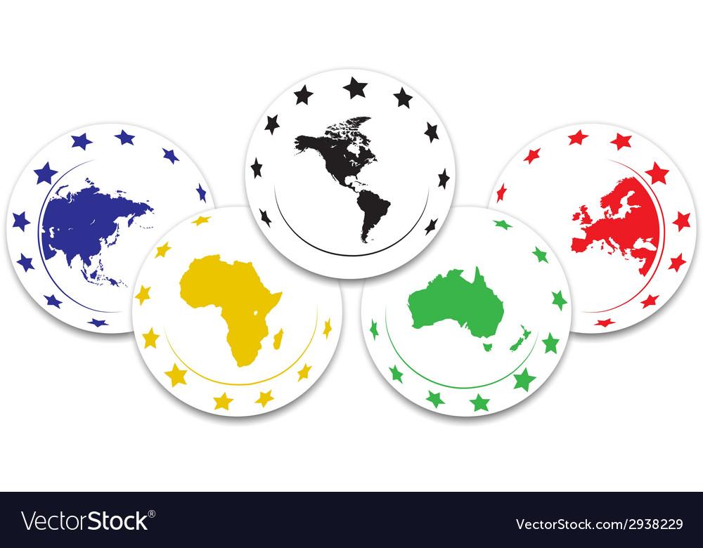 Olympic symbol vector | Price: 1 Credit (USD $1)