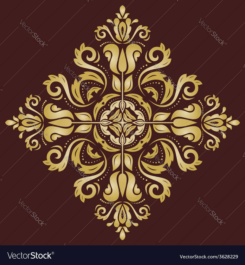 Orient pattern golden abstract ornament vector | Price: 1 Credit (USD $1)