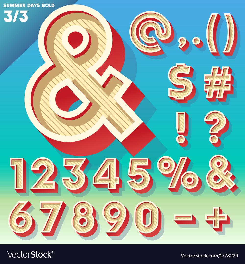 Retro alphabet for summer typography design vector | Price: 1 Credit (USD $1)