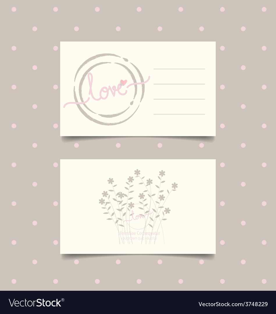 Romantic greeting card design with flower vector   Price: 1 Credit (USD $1)