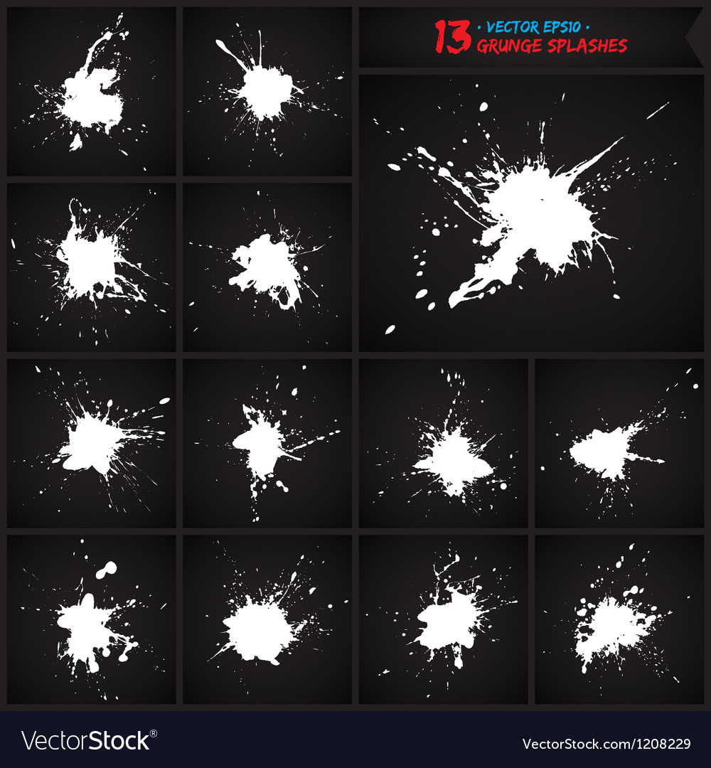 Set of grunge splashes vector | Price: 1 Credit (USD $1)