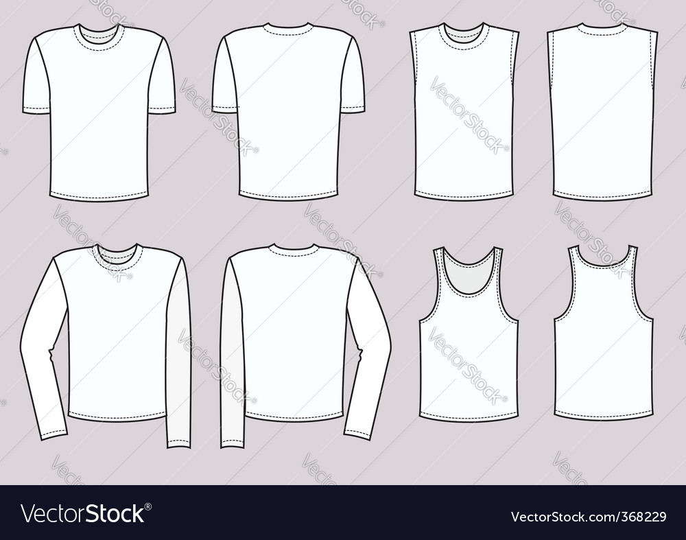 T-shirts man vector | Price: 1 Credit (USD $1)