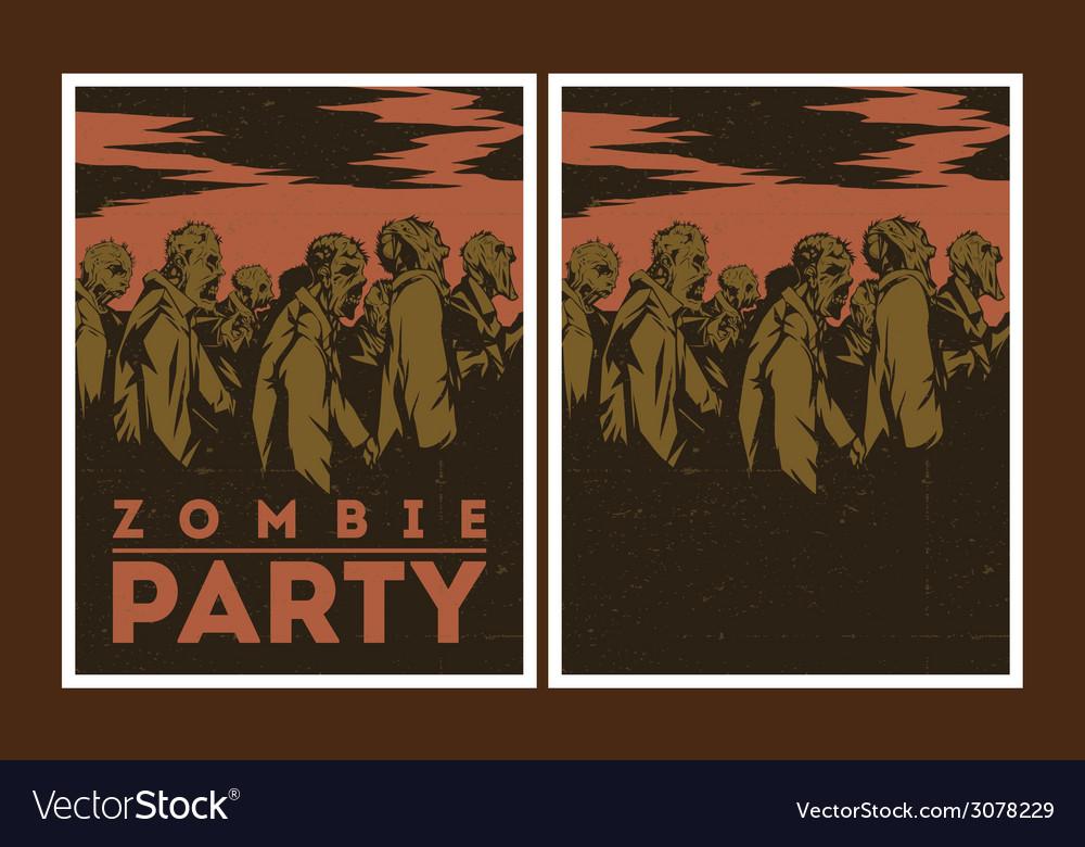 Zombie party invitation vector   Price: 1 Credit (USD $1)