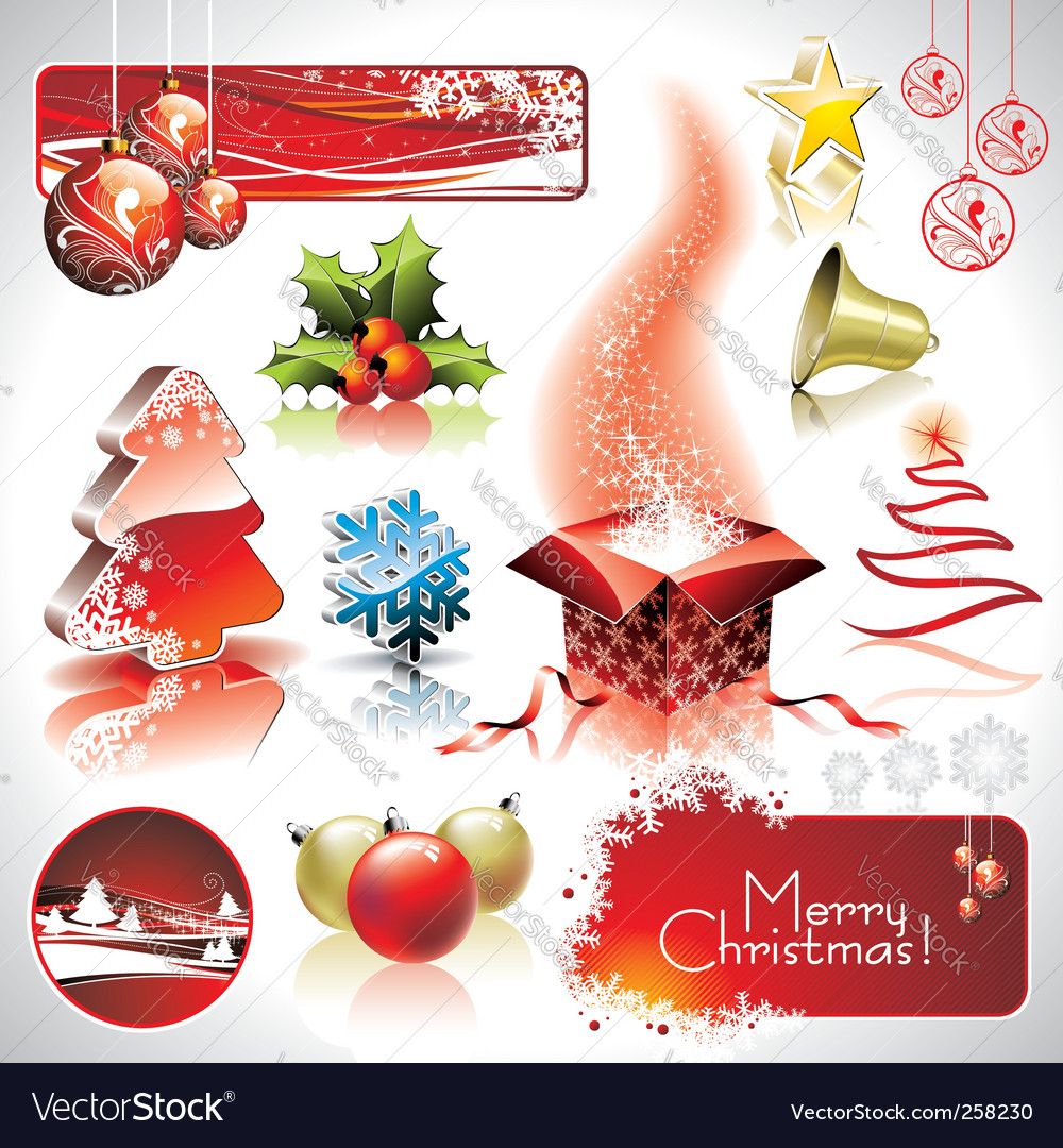 Christmas collection vector | Price: 3 Credit (USD $3)