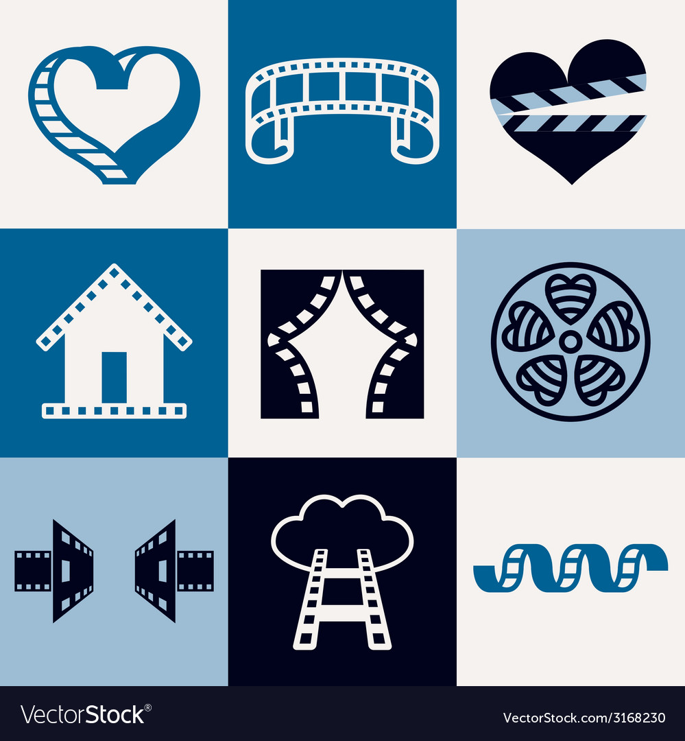 Cinema logo icons vector | Price: 1 Credit (USD $1)