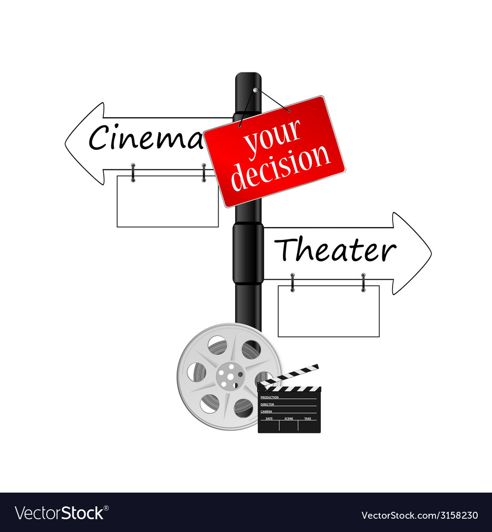 Cinema or theater icon vector | Price: 1 Credit (USD $1)