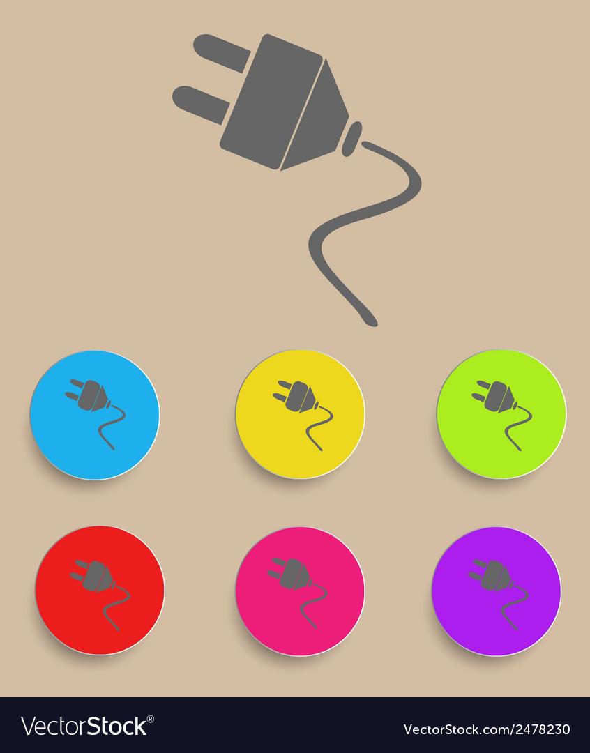 Electric plug icon vector | Price: 1 Credit (USD $1)