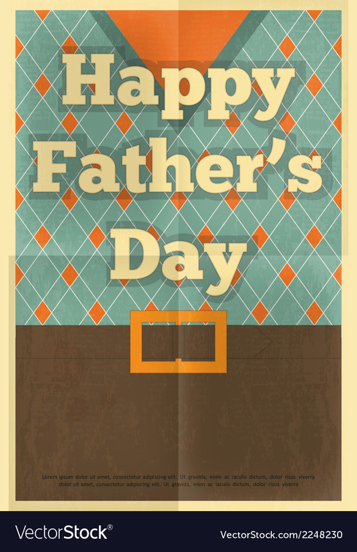 Fathers day poster waistcoat vector | Price: 1 Credit (USD $1)