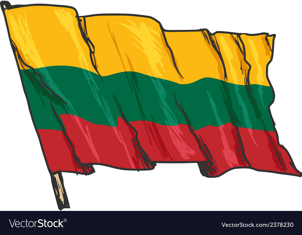 Flag of lithuania vector | Price: 3 Credit (USD $3)