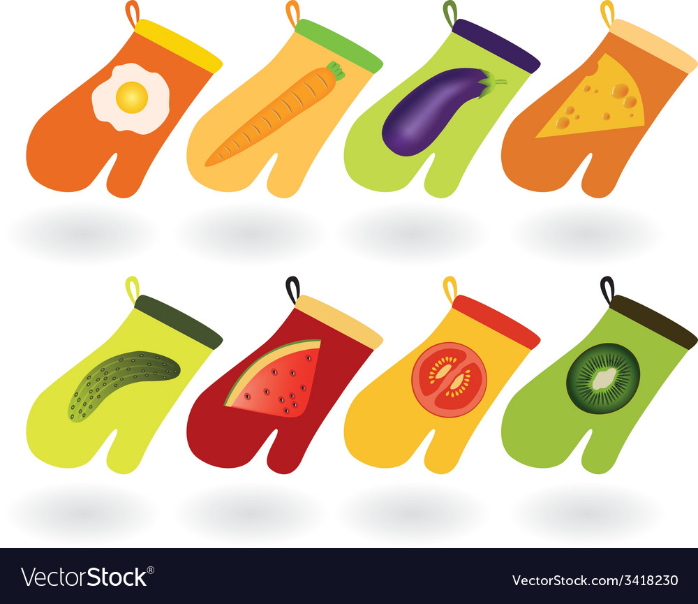 Kitchen gloves vector | Price: 1 Credit (USD $1)