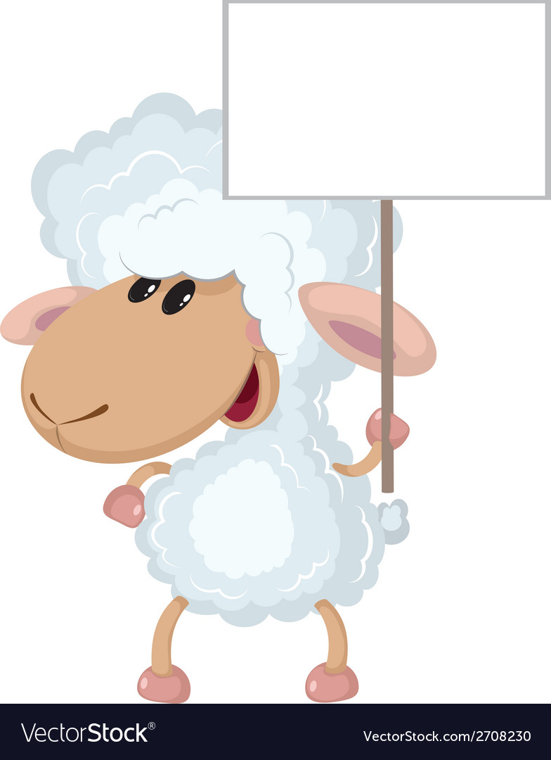 Lamb with a sign vector | Price: 1 Credit (USD $1)