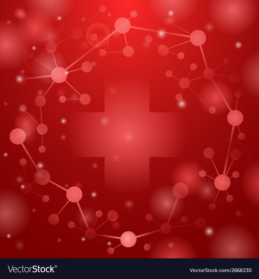 Medical cross on red vector | Price: 1 Credit (USD $1)