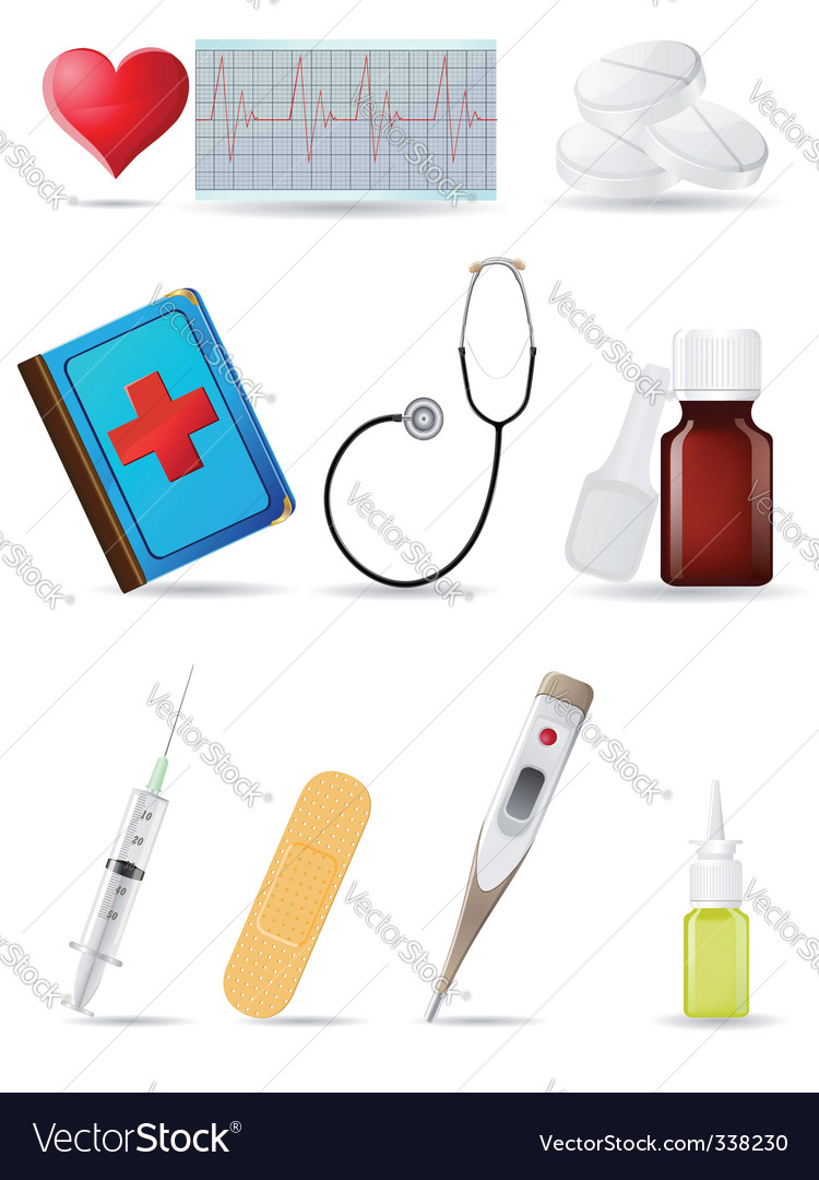 Medical icons vector | Price: 3 Credit (USD $3)