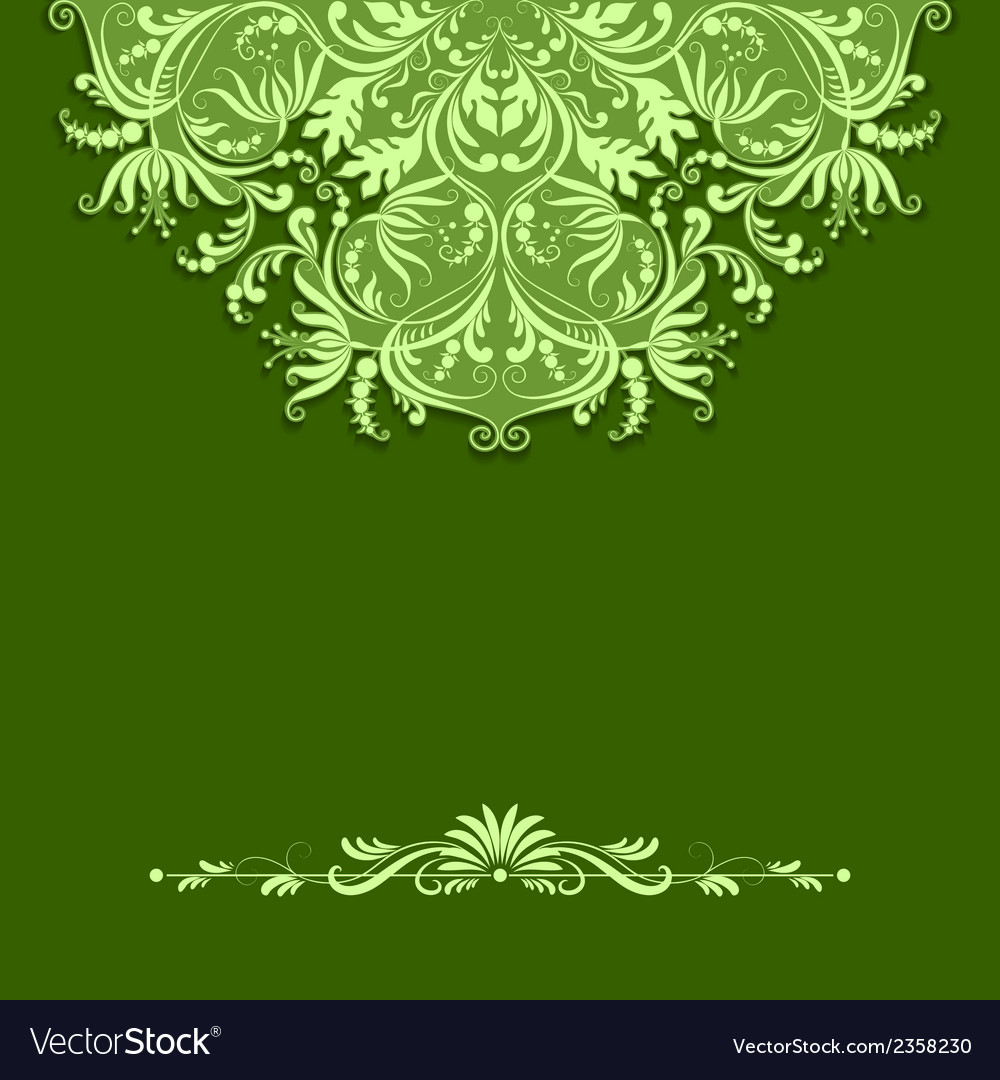 Paper pattern on green background vector | Price: 1 Credit (USD $1)