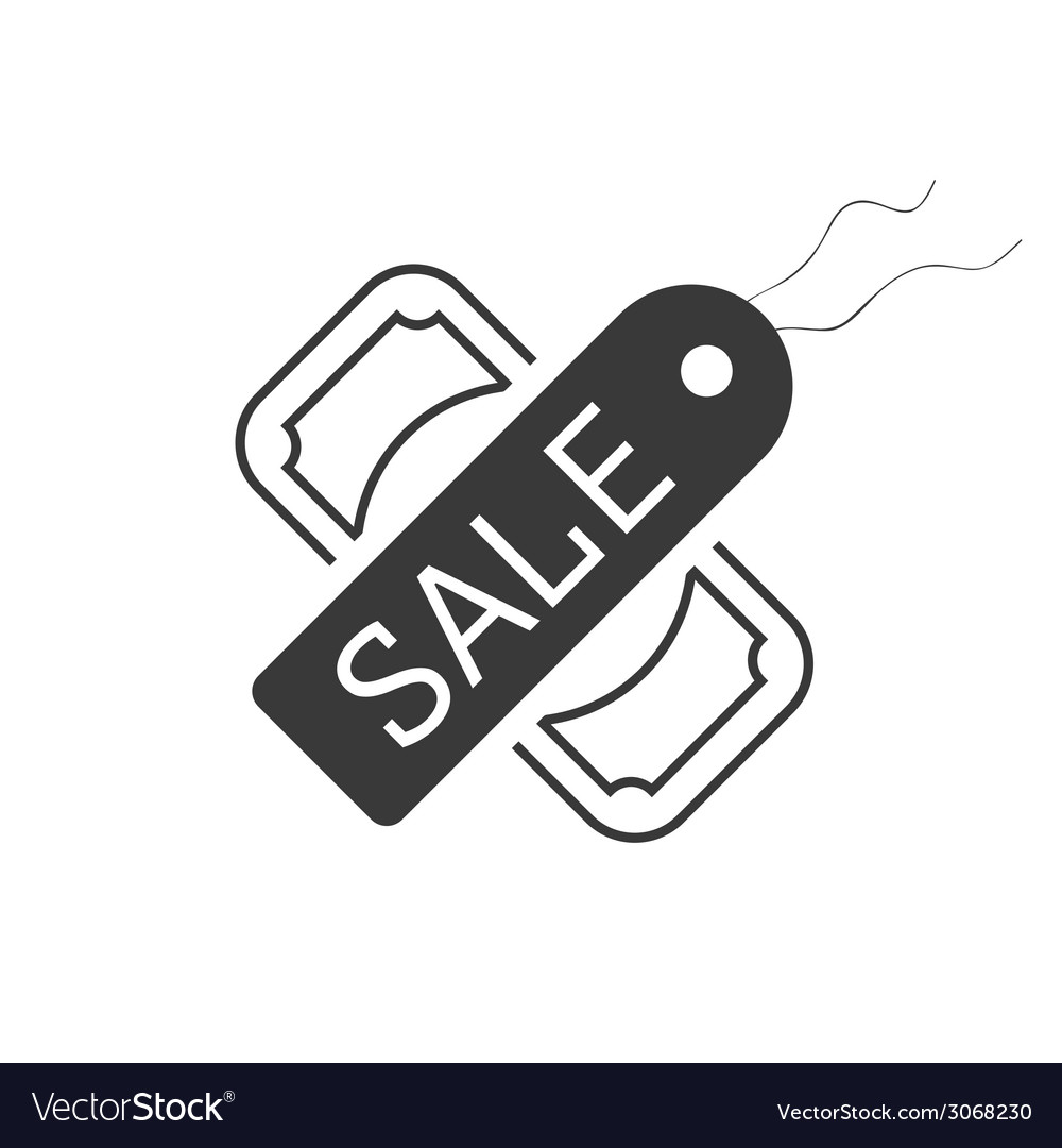 Sale symbol tag and dollar icon vector | Price: 1 Credit (USD $1)
