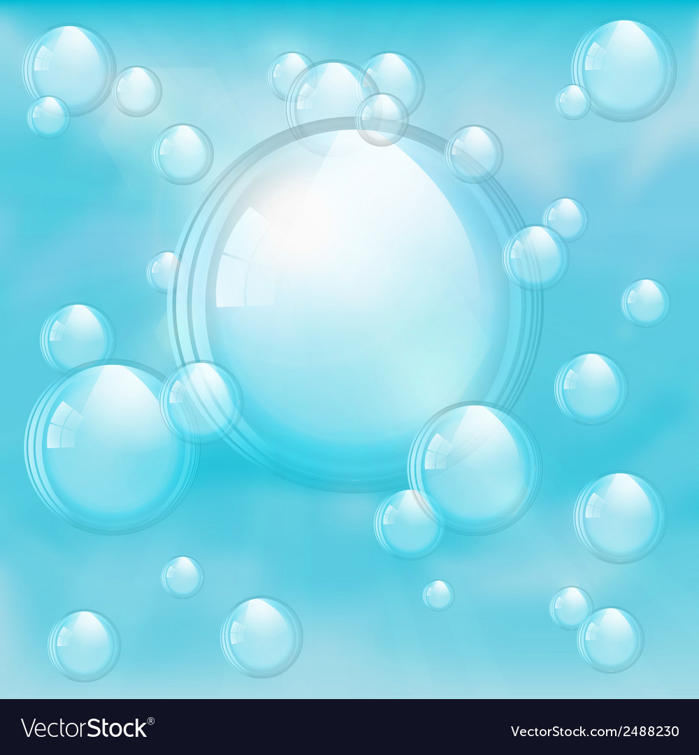 Sky and bubbles background vector | Price: 1 Credit (USD $1)