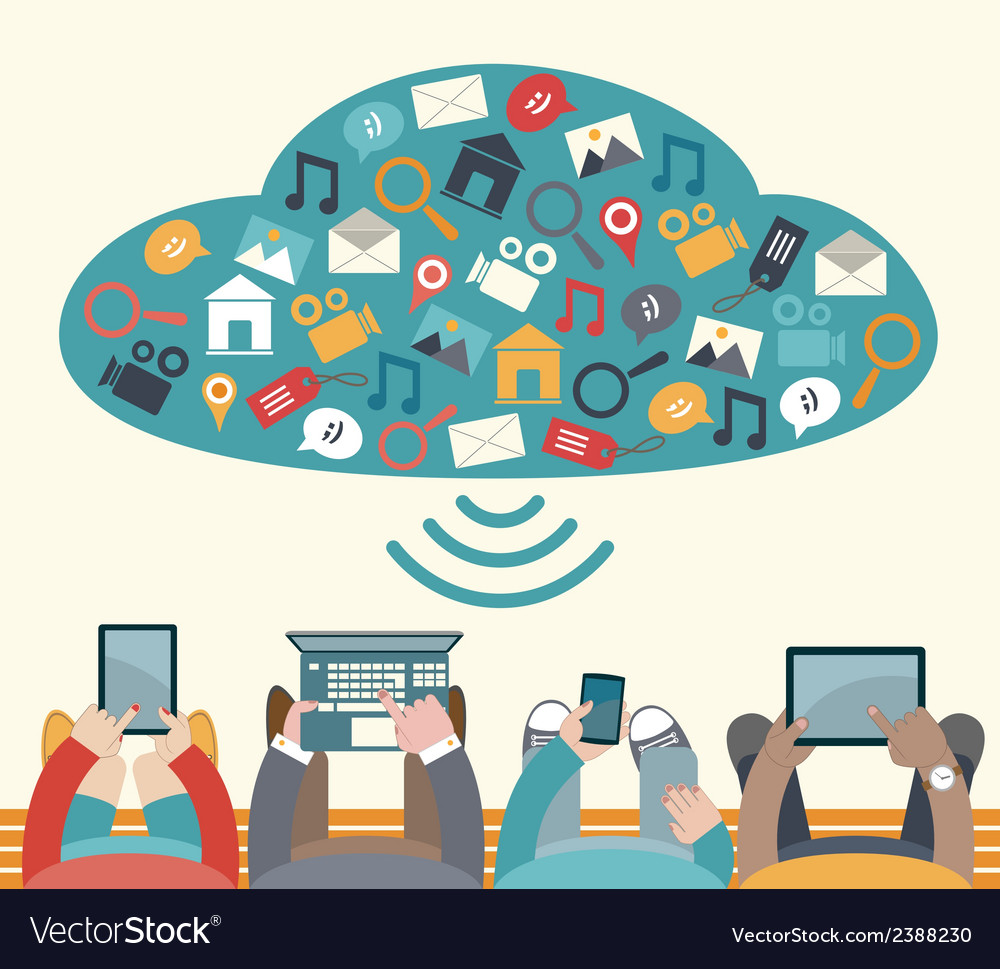 Using mobile devices vector